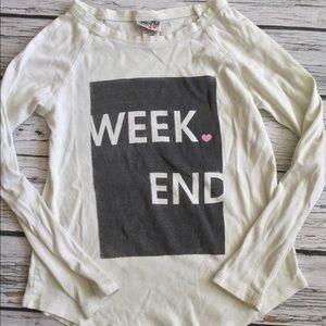 Junk Food Girls Long Sleeve T-Shirt WEEKEND Large